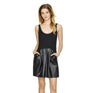 Aritzia Wilfred Black Leather Skirt Pompe Dress 00